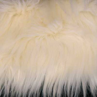 Ivory Shaggy Long Pile Faux Fur