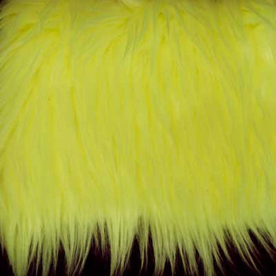 Neon Yellow Shaggy Long Pile Faux Fur