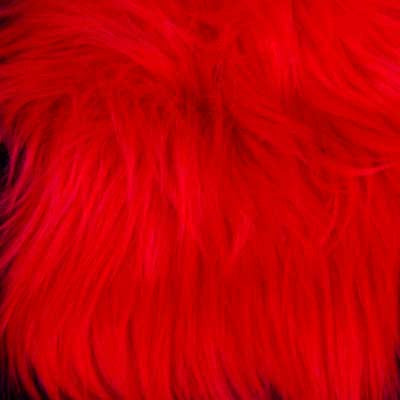 Bright Red Shaggy Long Pile Faux Fur