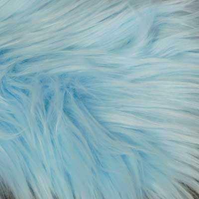 Baby Blue Mongolian Long Pile Faux Fur