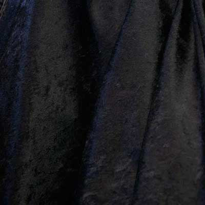 Black Crushed Panne Velvet Fabric