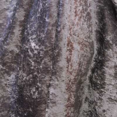 Silver Crushed Panne Velvet Fabric