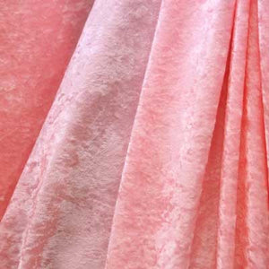 Light Pink Crushed Panne Velvet Fabric