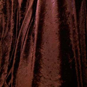 Brown Crushed Panne Velvet Fabric
