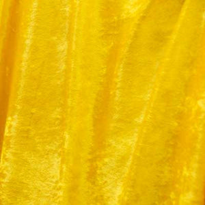 Canary Yellow Crushed Panne Velvet Fabric