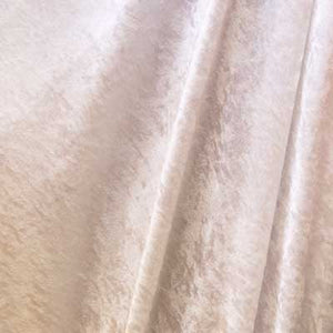 White Crushed Panne Velvet Fabric