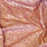 Blush Multi-Sequins Taffeta Fabric
