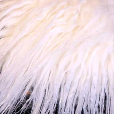 Off White Gorilla Long Pile Faux Fur