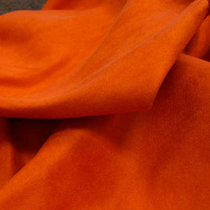 Pumpkin Orange Faux Suede Fabric