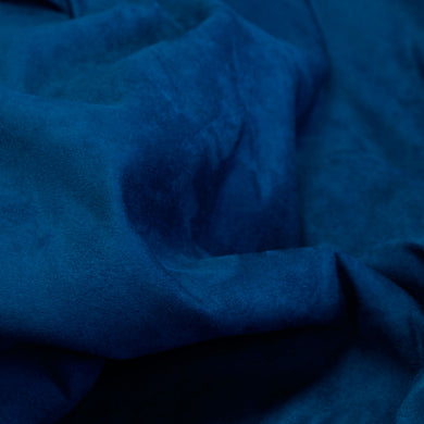 Sea Blue Faux Suede Fabric