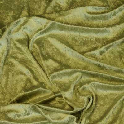 Olive Green Crushed Panne Velvet Fabric