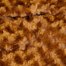 Almond Minky Rosebud Fur Fabric