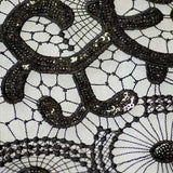 Black Infiniti Lace Fabric