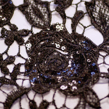 Black Rose Lace Fabric