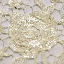 Ivory Rose Lace Fabric