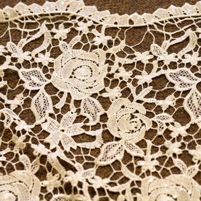 Guipure Ivory Rose Lace