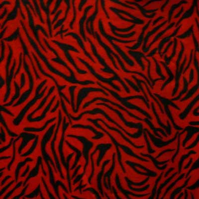 Red & Black Zebra Stripes Fleece
