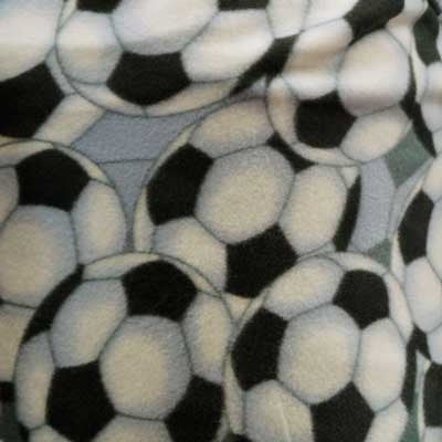Gray Soccer Ball Fleece