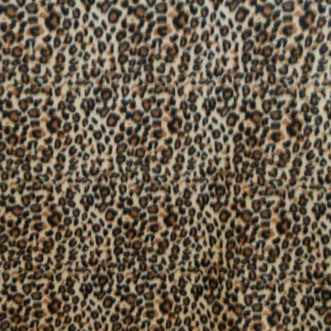 Black and Brown Cheetah Spot Fleece Fabric