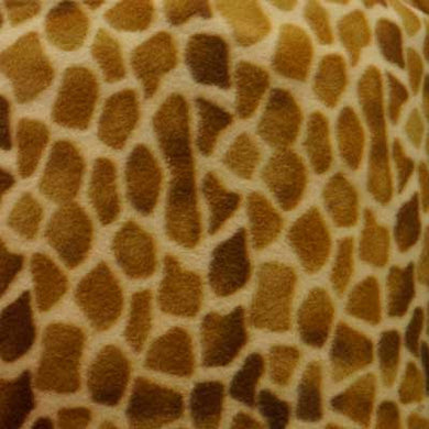 Brown & Tan Giraffe Fleece
