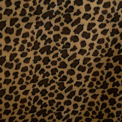 Black and Brown Leopard Spot Fleece Fabric