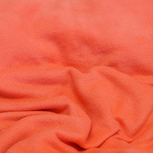 Peach Solid Fleece Fabric