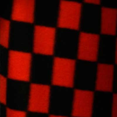 Red and Black Checkerboard Fleece