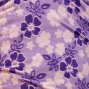 Purple & White Hibiscus Flowers Fleece