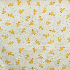Yellow Duckies on White Flannel