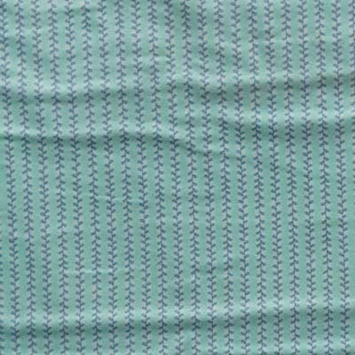 Dark Blue Vines on Aquamarine Flannel