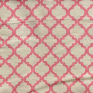 Pink & Cream Moroccan Tile Flannel