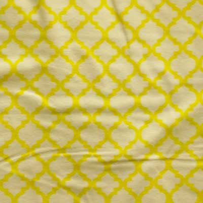 Beige & Yellow Moroccan Tile Flannel