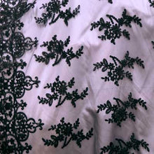 Black Dianna Flower Lace Fabric
