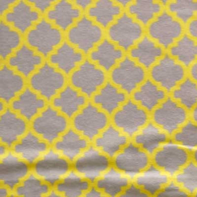 Yellow & Gray Moroccan Tile Flannel