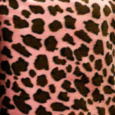 Pink & Tan Leopard Fleece