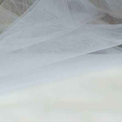 Decorative White Tulle Assorted - 40 yards