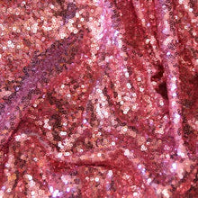 Dusty Rose Mini Glitz Sequin Fabric - 1/2 yd