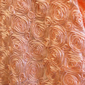 Blush Rosette Satin Fabric