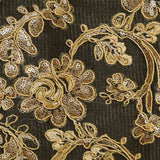 Gold Renee Flower Lace Fabric