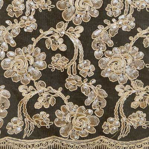 Champagne Renee Flower Lace Fabric