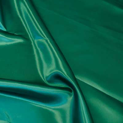 Forest Green Bridal Satin Fabric
