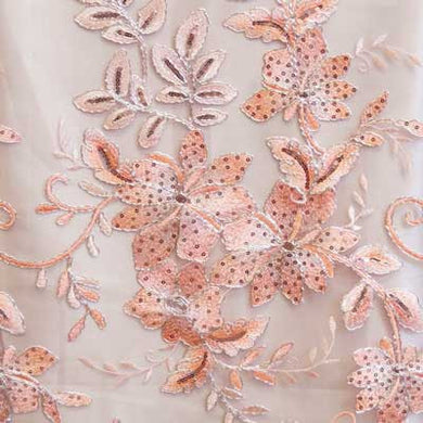 Blush Gloria Flower Lace Fabric