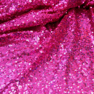 Fuchsia Mini Glitz Sequin Fabric by the Yard