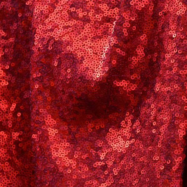 Matte Red Mini Glitz Sequin Fabric by the Yard