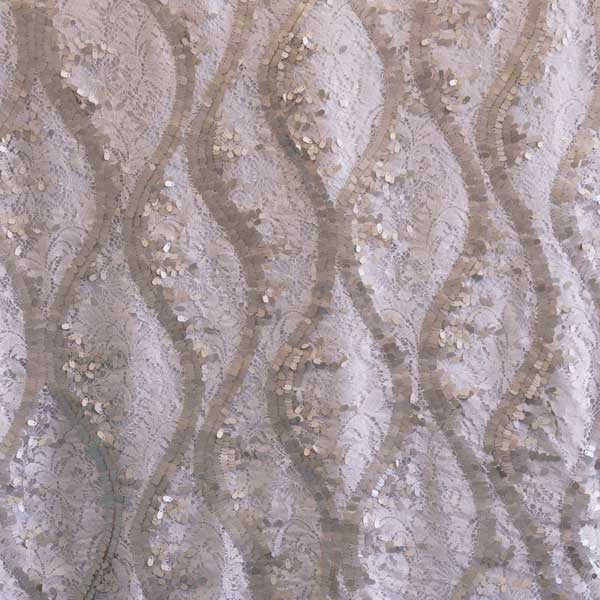 Silver Carrie Lace Fabric