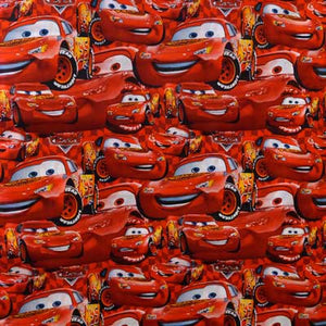 Disney's Cars Mcqueen Collage 100% Cotton