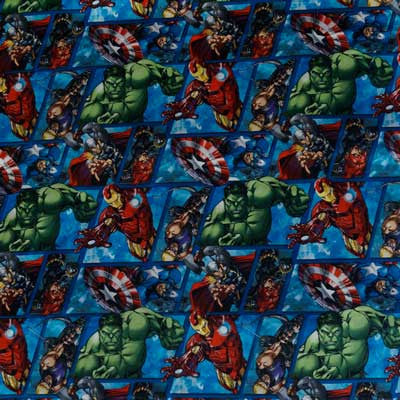 Marvel Avengers Blocks 100% Cotton