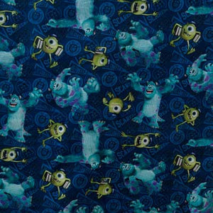 Disney's Mike & Sully Monsters U 100% Cotton