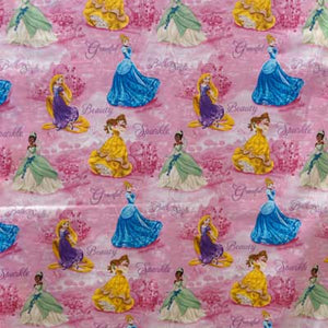 Disney's Princess Tianna, Cinderella, Belle & Rapunzel 100% Cotton