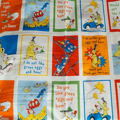 Dr. Seuss Character Blocks 100% Cotton